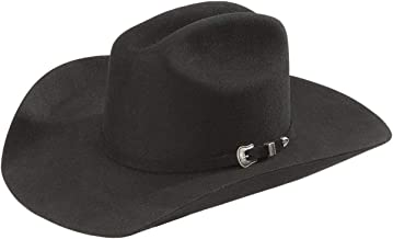 RESISTOL Men's Squared Challenger 5X Fur Felt Cowboy Hat - Rftchg-684007 Black