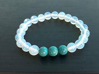 Opal stone bracelets,turquoise bracelets,beaded bracelets,stretch bracelets,men women bracelets,gift bracelets,friendship ...