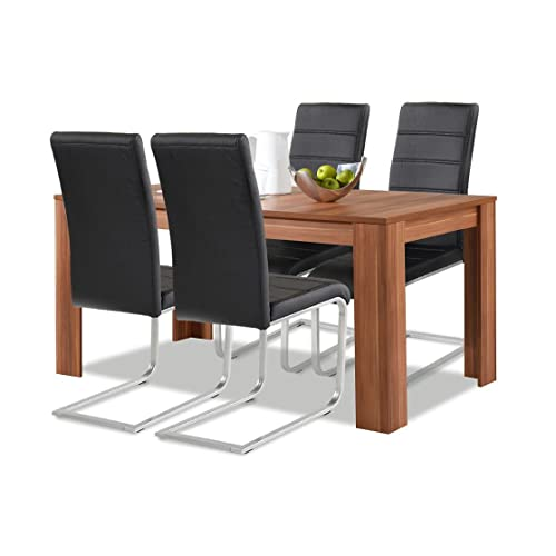 Charmant Allegro Agionda® Esstisch + Stuhlset : 1 X Esstisch Toledo Nussbaum 140 X  90 +