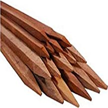 """Bond Manufacturing Co 93506 3ft x 1/2in Packaged Hardwood Stakes (6-Pack), 3' x 0.5"""" x 0.5"""", Natural"""