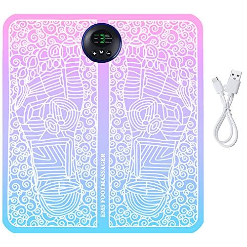 EMS Fußmassagegerät Wird Verwendet, um Muskelschmerzen zu Lindern, Foot Massage mit 6 Modi, 9 Einstellbare Frequenzen, Fußmassagegerät Elektrisch - USB Wiederaufladbare (mehrfarbig, Tastenmodelle)