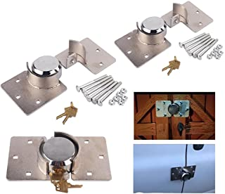Security Hasp Shackle Lock- Van Garage Shed Door Security Padlock & Hasp Set Heavy Duty 73mm Steel with Bolt