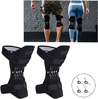 TYH Knee Support Booster, Powerful Rebound Spring Force, Mountaineering Deep Care Joint Protection Decompression Pads, 1Pair