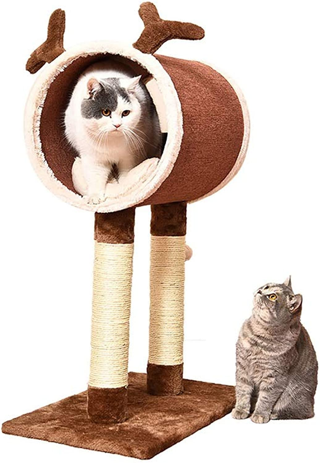 Cat Bed Cat Climbing Pet Toy Threeinone, Elk Design, Brown, Four Seasons Available JSSFQK