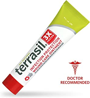 Terrasil® Wound Care MAX - 3X Faster Healing, Dr. Recommended, 100% Guaranteed, Patented, Homeopathic infection bed & pressure sores diabetic wounds venous foot & leg ulcers cuts scrapes burns