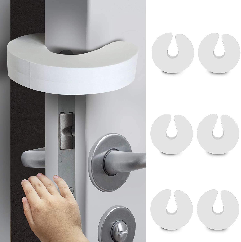 Door Pinch Guard Baby Door Slam Stopper, Soft Foam Door Stopper. Prevents Finger Pinch Injuries, Slamming Doors, and Child or Pet from Getting Locked in Room (6 Pack)