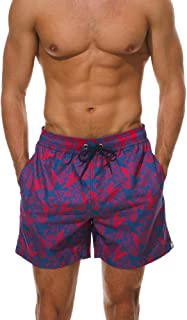 Men's Swim Trunks Quick Dry Swimsuit Beach Shorts with Pockets