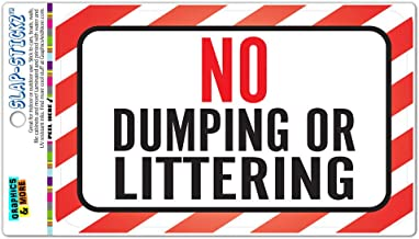"No Dumping $200 Fine Sign 12/"" x 18/"" Heavy Gauge Aluminum Signs"