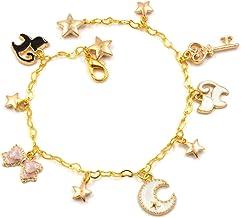 CoolChange Sailor Moon Pulsera de Metal Dorado con 11 Colgantes