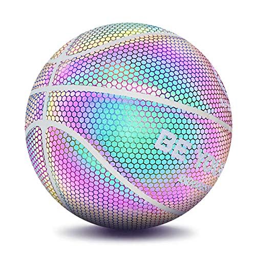 Buy Discount iGREATWALL Light Up Basketball Glowing Night Game Street PU Rainbow Light Training Ball...