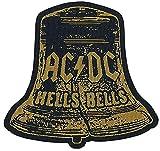 AC/DC Hells Bells Cut-Out Unisex Parche multicolor, 100% poliéster,