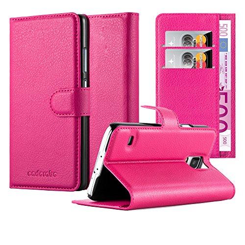 Cadorabo Funda Libro para Samsung Galaxy S5 / S5 Neo en Rosa Cereza – Cubierta Proteccíon con Cierre Magnético, Tarjetero y Función de Suporte – Etui Case Cover Carcasa