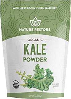 Sponsored Ad - Nature Restore USDA Certified Organic Kale Powder, Non-GMO (8 Ounces), Perfect for Shakes, Greens Superfood...