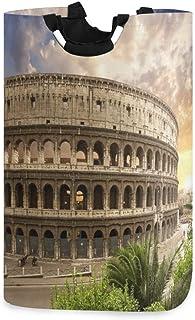 COFEIYISI Grand Organiser Paniers pour Vêtements Stockage,Forum Colis Bleu Couleur Rome Italie Parcs Flaviens Colisée Roug...