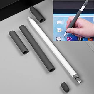 Miss flora MAC accessories .For Apple Pencil Creative 4 in 1 Anti-lost (Pencil Cap + Pencil Point + 2*Penholder Cover) TouchPen Silicone Protective Set(Grey) (Color : Grey)