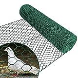 Amagabeli Garden Home 0.75M X 25M Malla de Alambre Hexagonal 25.4mm Red Hexagonal Verde Valla de Jardín Metalicas Alambre HC05