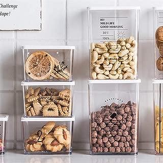 24 Etichette Vtopmart 1.6L Contenitori Alimentari per Cereali,Pasta Rosa Senza BPA Contenitori Plastica con Coperchio,Set di 9