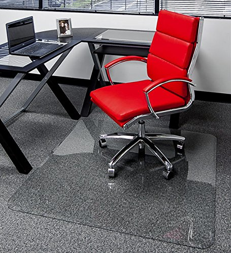 """40"""" x 60"""" - Premium Glass Chair Mats   No Crack, Dent or Scratch   for Carpet or Hard Floor   Exclusive Beveled Edges"""