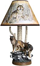 Mopoq Creative Resin Table Lights With Animal Wolf Design, Ideal For Children's Bedroom, For Desk, Cartoons, Night E27 LED...