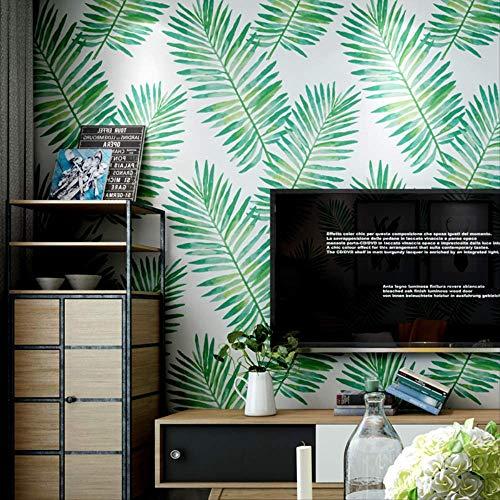 QWESD Nordischen Stil Tapete Südostasiatischen Bananenblatt Tropischen Pflanze Wohnzimmer Schlafzimmer Tv Hintergrundtapete