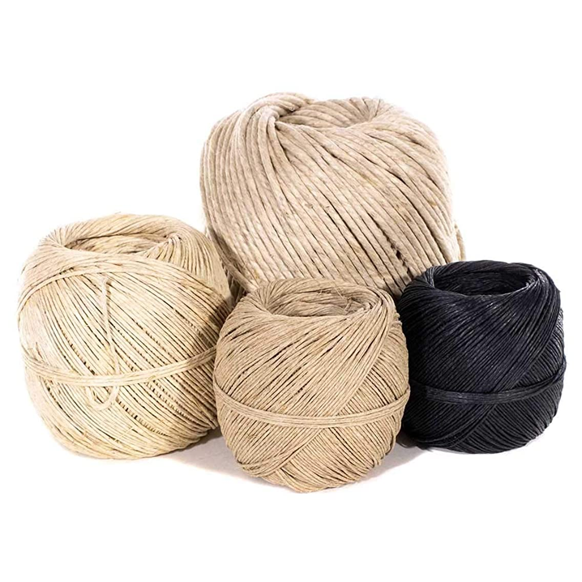 Hemp Cord in 1mm, 2mm, and 3mm Diameters – Choose from Black or Natural in Color – Wrapped in a Ball – Great for Crafting, Binding, Packaging, and Decoration