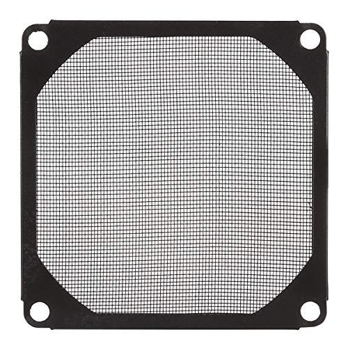 ILS – stofafdekking van aluminium met ventilator voor filter voor ventilator zwart 8 cm