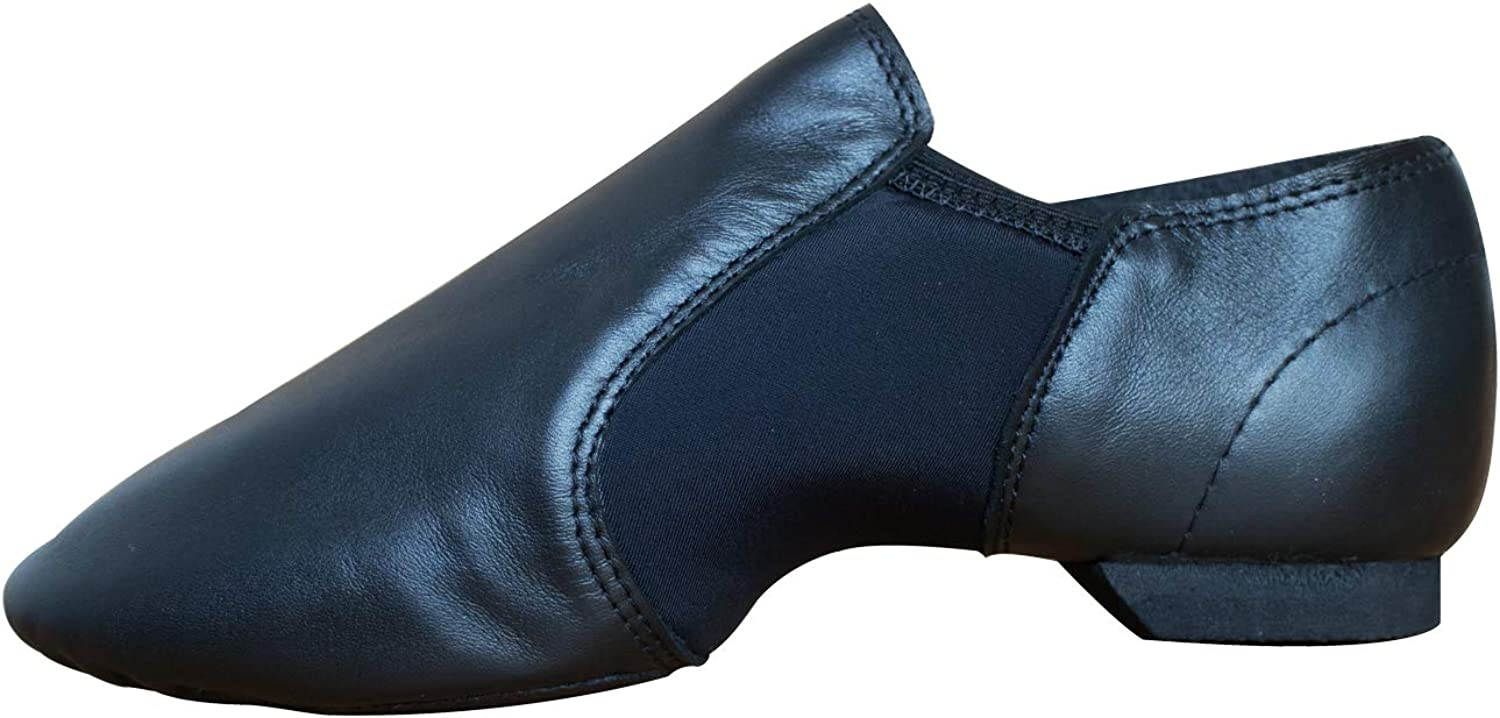 Lyra genuine soft and comfy leather upper stretch neoprene jazz dance shoes slip on for women men big boys and girls in dancing practice and training slim and tight style for dance professionals