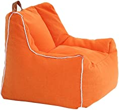 TWDYC Kids Adults Bean Bag Chairs Couch Sofa Cover Indoor Lazy Lounger Toys Storage Bag (Color : Orange)