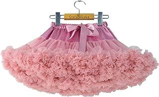 Girls' Fluffy Tulle Pleated Tutu Skirt Princess Ballet Dance Pettiskirt Tiered