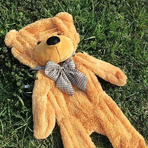 Günstige Riesen Ungefüllte Leere Teddybär Bärenfell Mantel Weiche Große Hautschale Halbfertige Plüschtiere Weiche Kinderpuppe 100CM Hellbraun