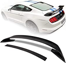 Modifystreet For 2015-2019 Ford Mustang GT350 Style 4Pcs Double Deck Primer Carbon Fiber Spoiler