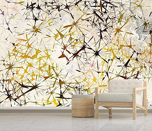 Papel Pintado Pared Papel Estrella Abstracta Fotomurales 3d Decoración Papel Tapiz Dormitorio Sala Custom Murales Fondo Pared 400x280cm