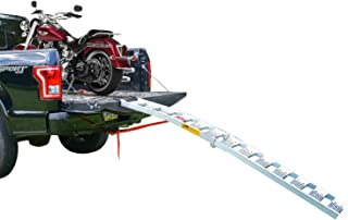 EmpireCovers Tru-Grip Arched Aluminum Folding Single Runner Motorcycle Ramp -7.5' Long, 750 lb Weight Capacity