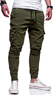 Mens Casual Sports Cargo Trousers Gym Joggers Slim Fit Jogging Bottoms Sweatpants S-2XL
