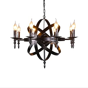 Outdoor Candle Chandeliers Wrought Iron   Home Lighting