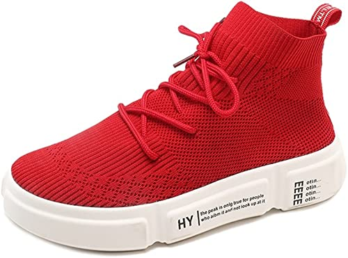 Calzado de damen High Help Elasticity Socks, Summer New Lace-Up schuhe de Pluma Gruesos, Athletic Casual Height Increase schuhe