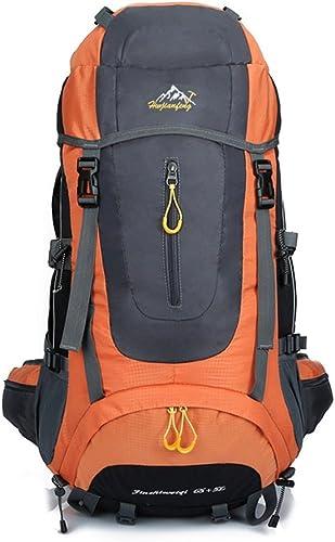 Sac à dos de randonnéer Yhz@ Imperméable Randonnée Sac à Dos, Oxford Sac à Dos Extérieur Sport Voyage Trekking Course Hommes 70L (Couleur   Orange)