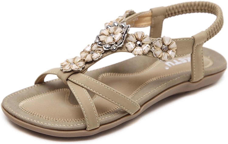 Women Sandals Summer shoes Genuine Leather Ladies Comfortable Flat Sandals