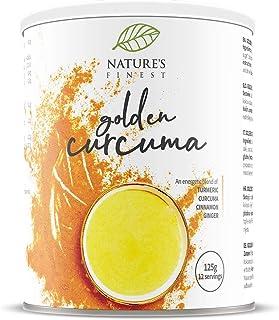 Nature's Finest Golden Curcuma Latte 125g | Miscela Biologica a base di Curcuma, Cannella, e Zenzero | Ideale per Vegani e...