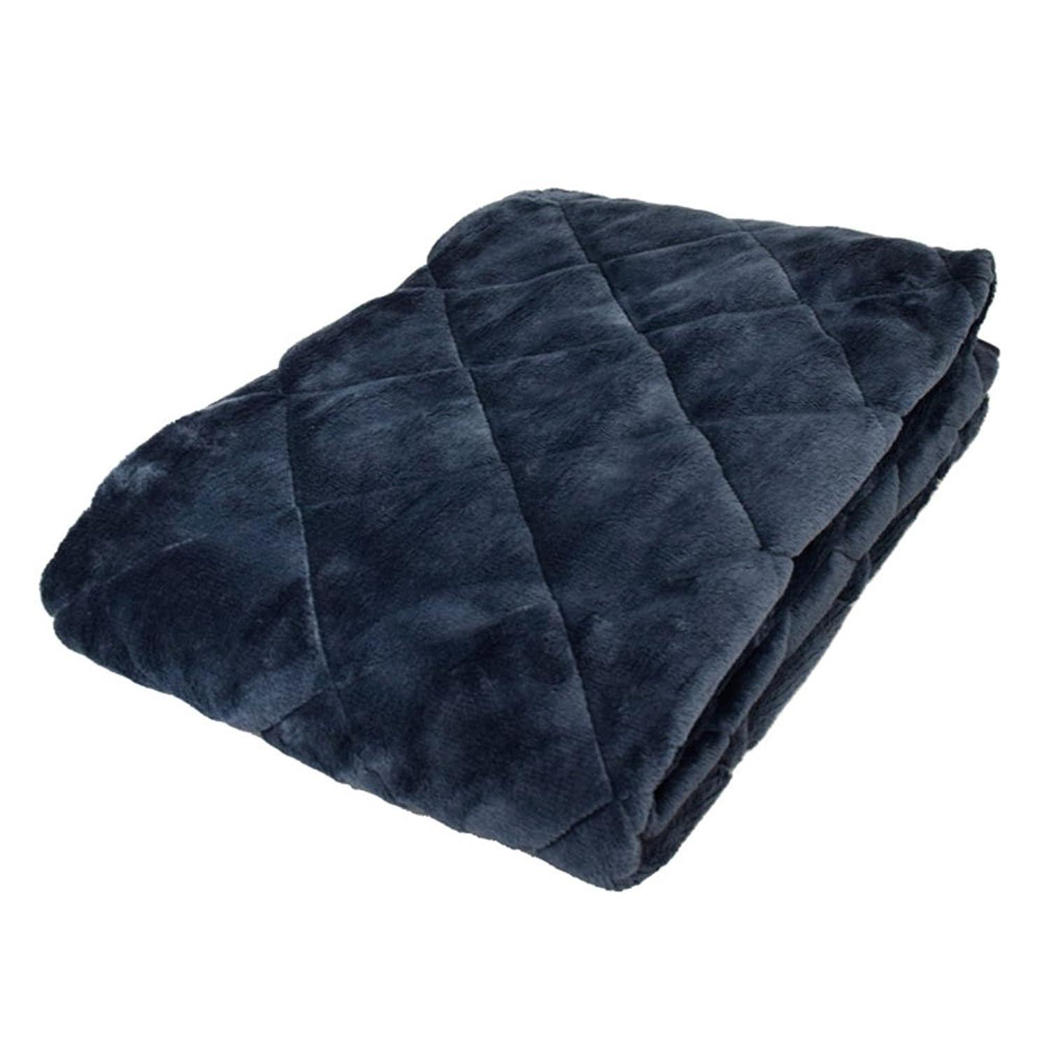 リスキーな蒸気宣言する毛布 敷きパッド シングル 冬 あったか 無地 ネイビー フランネル 100×205cm 四隅ゴム付き あったか敷きパッド 敷き毛布