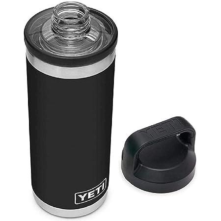 YETI Rambler 18オンスボトル ランブラー チャグキャップ付き (BLACK) [並行輸入品]