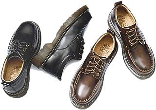 [MerryCo] レースアップシューズ オックスフォードシューズ レディース マニッシュ メンズライク フォーマル Uチップ 厚底靴 歩きやすい 滑り止め ロリータ 通学 女子高生 可愛い 黒 ブラウン