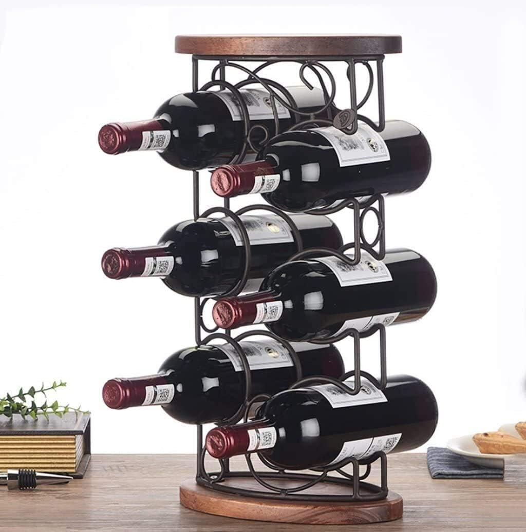 AERVEAL Max 41% OFF Wine Holder Rack Display Max 60% OFF Decoration Wood Solid