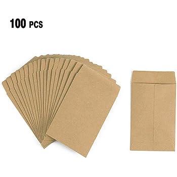 Petit sachet de graines 100 x Small Petites enveloppes en papier cristal pour confettis de mariage avec fermeture auto-adh/ésive 89mm X 117mm claire