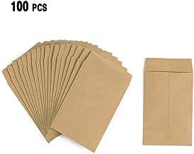 Prune 265/x 175/mm PandaHall multicolore 10.5x7.5cm Carta Confezione di 60 pz sacchettini carta regalo per matrimonio con nastro fiocco a due lati Thistle