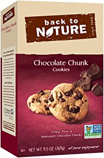 Back to Nature Cookies, Non-GMO Chocolate Chunk, 9.5 Ounce (Packaging May Vary)