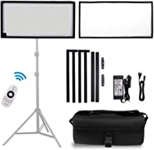 FOSITAN FL-1x2A 2nd Gen Bi-Color Portable Rollable 30x60cm Flexible LED Light Panel Mat on Fabric Daylight 3200-5000K 48W 8000LM 384 SMD LED 90 CRI+ for Traveling filmmakers Outdoor Photography