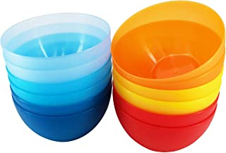 AOYITE 32-ounce Plastic Bowls Unbreakable Set of 12 BPA Free Dishwasher Safe for Cereal, Soup, Rice, Salad, Snack Dinnerware in 6-inch Multi-color Dinner Sets
