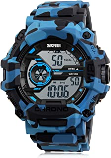 Men's Digital Sports Watches 50M Waterproof and Stopwatch Countdown Auto Date
