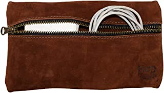 Hide & Drink Rustic Leather All Purpose Utility & Charger Case for MacBook, iPad & Laptop Handmade Swayze Suede